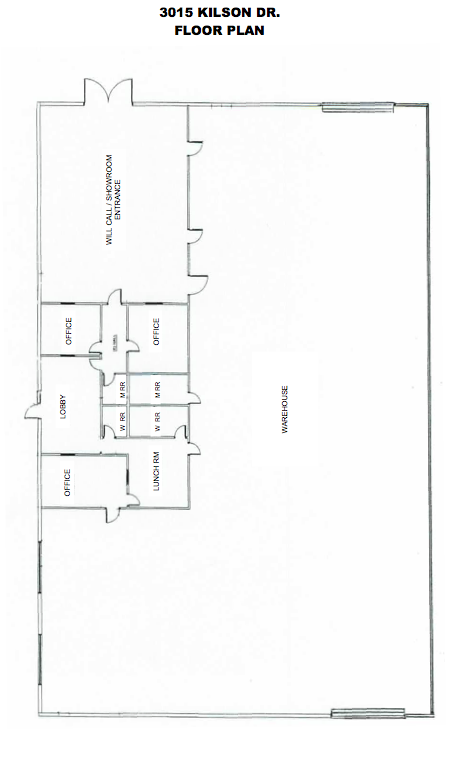 3015 kilson santa ana 12 000 square foot industrial for 12000 sq ft house plans